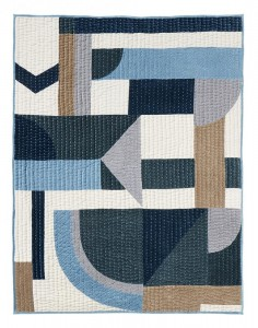 PATCHWORK GEOMERTIRC BLUE MIX NORDAL