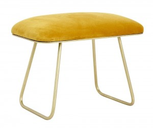 TABORET GOLD YELLOW VELUR NORDAL