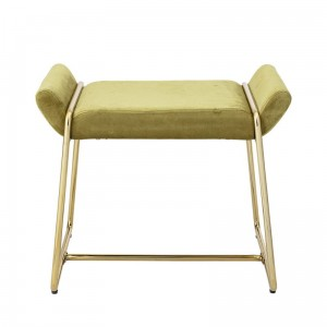 TABORET MEGAN VELVET YELLOW BLOOMINGVILLE