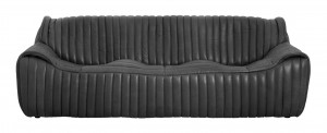 SOFA COMMO LEATHER BLACK NORDAL