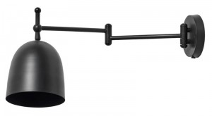 "KINKIET ""LONG ARM"" LAMPA ŚCIENNA BLACK NORDAL"